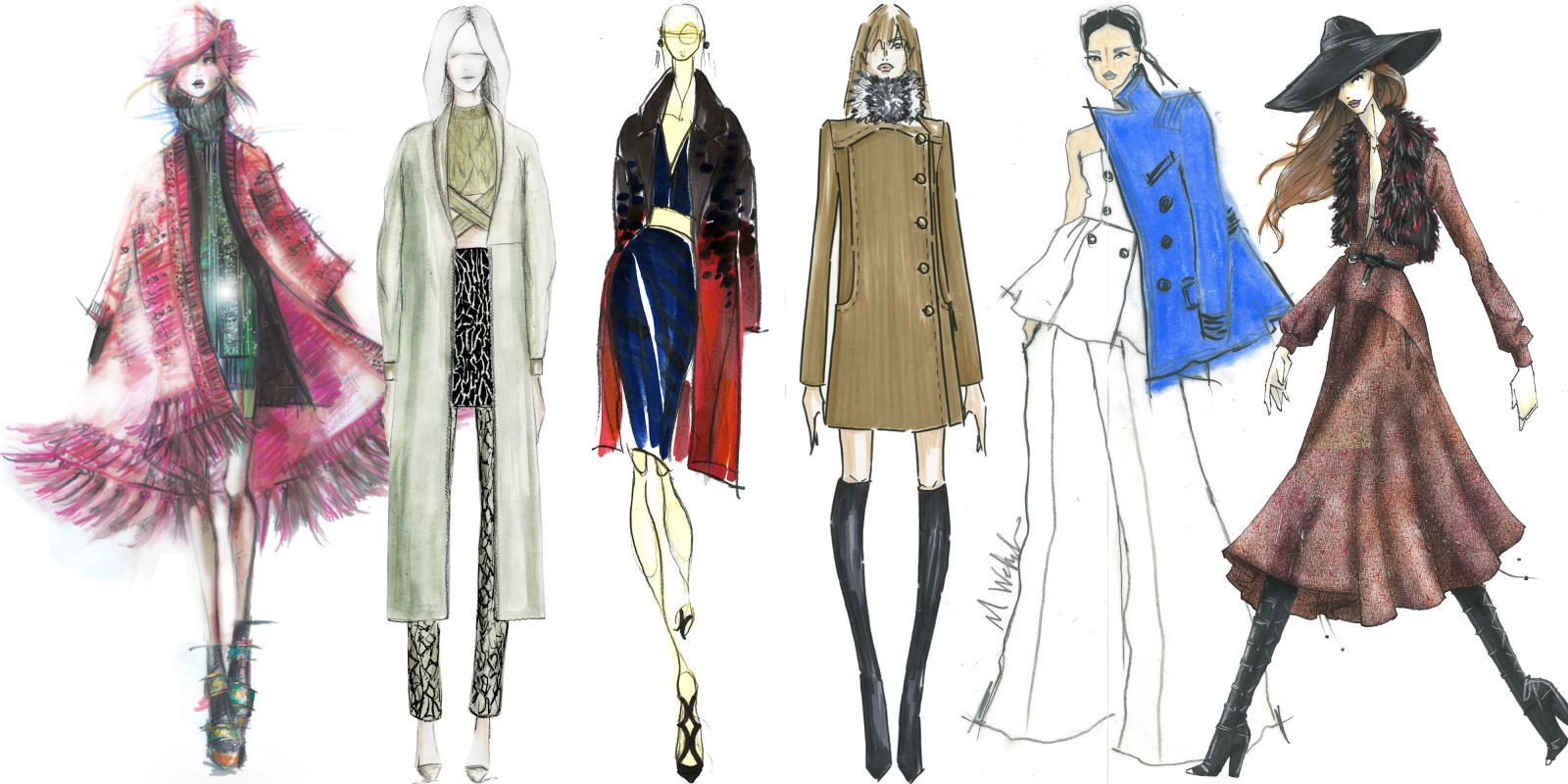 Fashion sketches step by 14